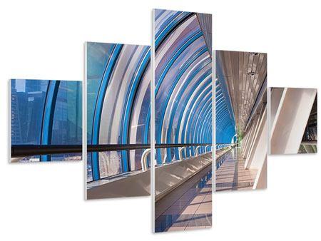 Hartschaumbild 5-teilig Hypermoderne Brücke