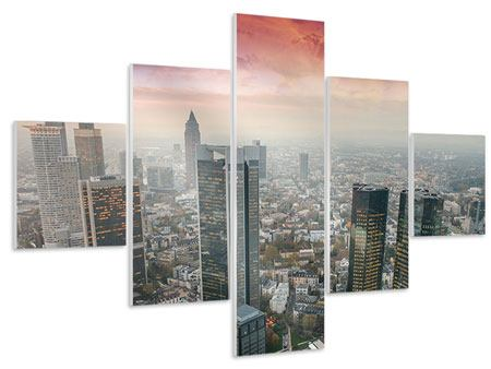 Hartschaumbild 5-teilig Skyline Penthouse in New York
