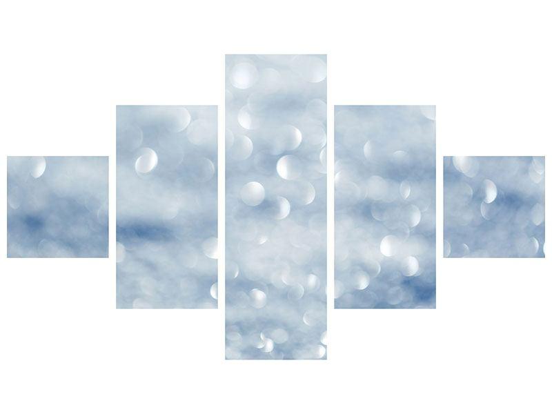 Hartschaumbild 5-teilig Kristallglanz