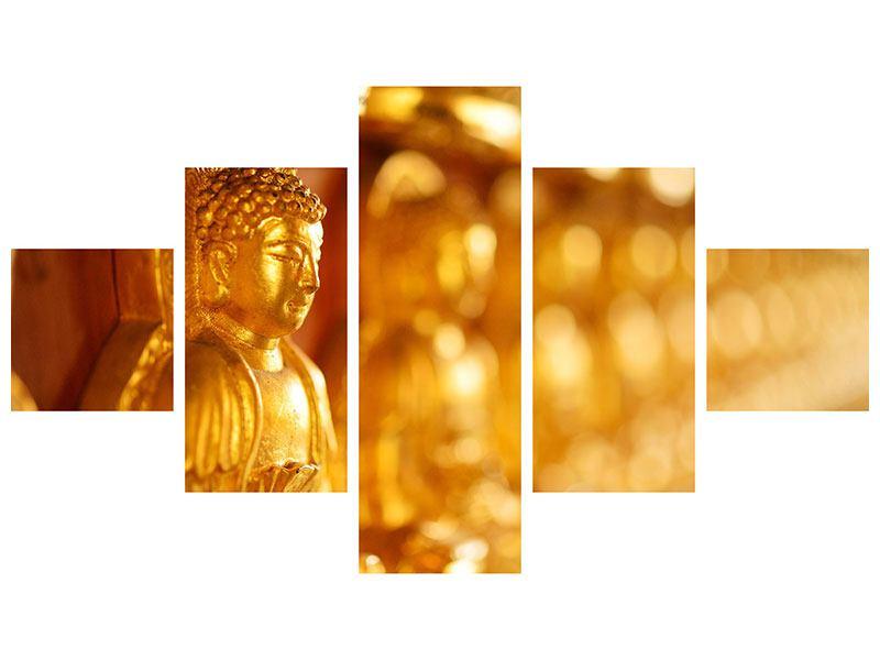 Hartschaumbild 5-teilig Buddhas