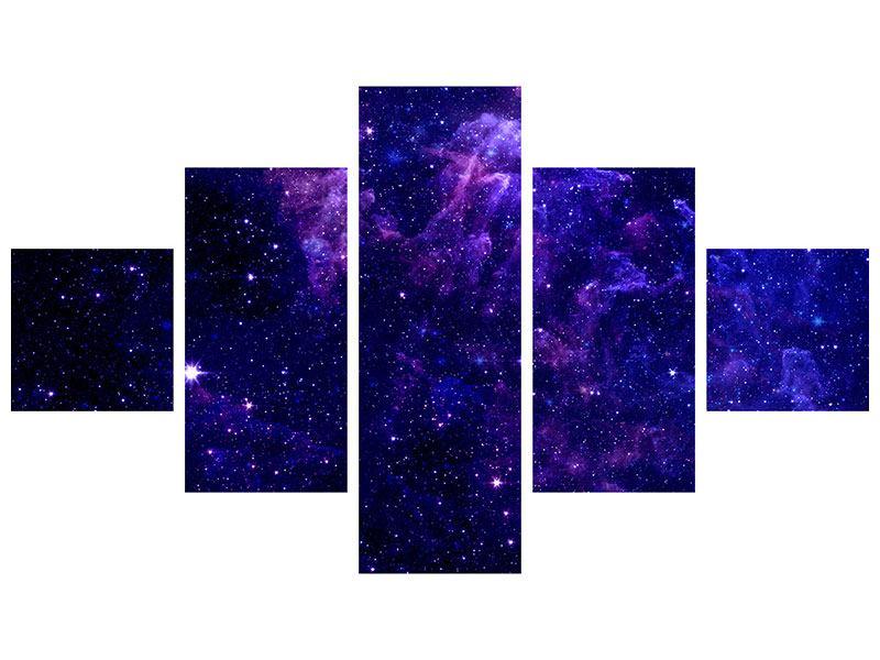 Hartschaumbild 5-teilig Ein Himmel voll Sterne