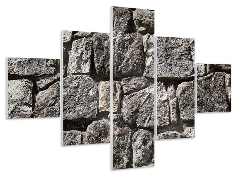 Hartschaumbild 5-teilig Grosses Mauerwerk