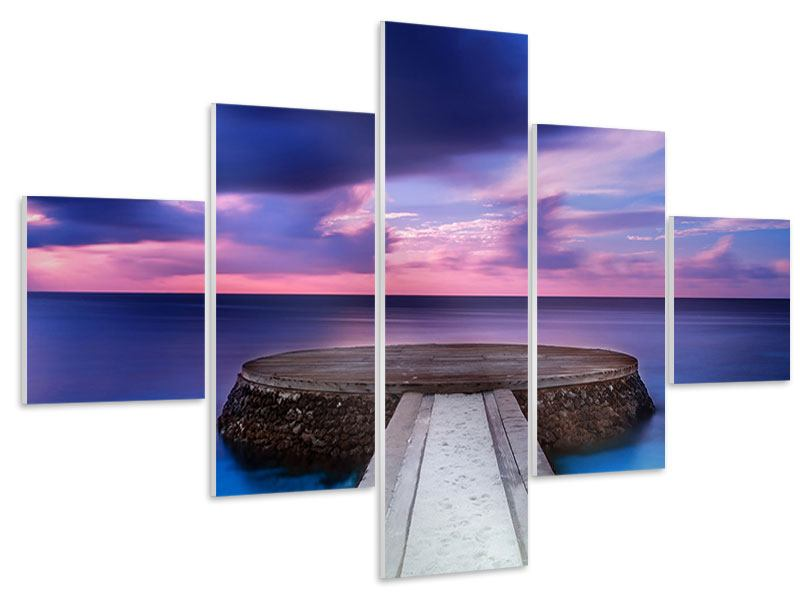 Hartschaumbild 5-teilig Meditation am Meer