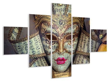 Hartschaumbild 5-teilig Venezianische Maske