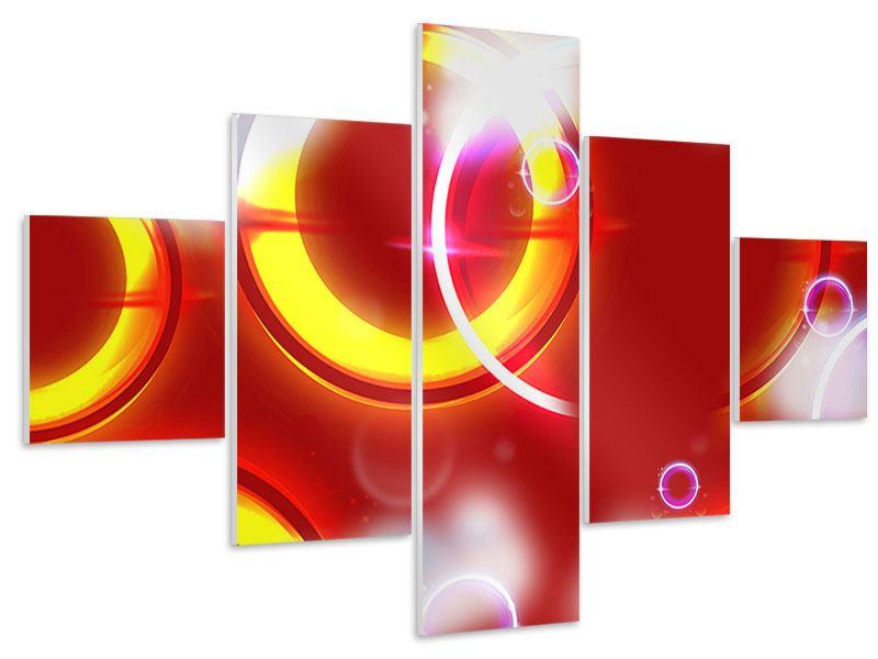 Hartschaumbild 5-teilig Abstraktes Retro