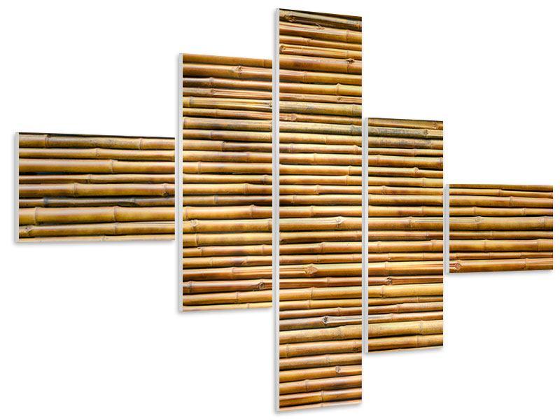 Hartschaumbild 5-teilig modern Bambus