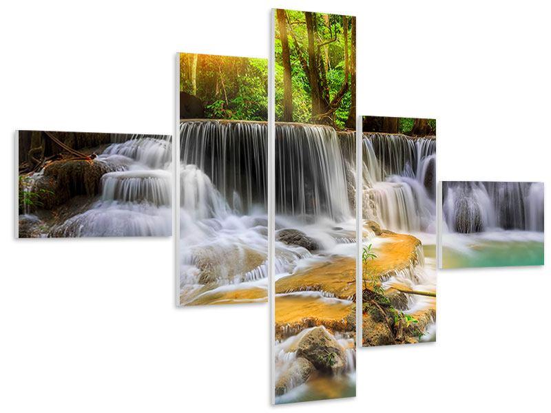 Hartschaumbild 5-teilig modern Nationalpark Si Nakharin
