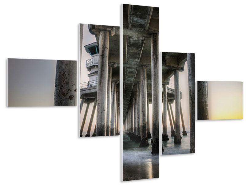 Hartschaumbild 5-teilig modern Brückenpfeiler