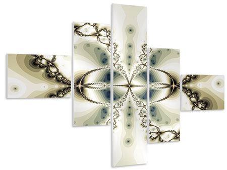Hartschaumbild 5-teilig modern Abstrakter Schmetterling