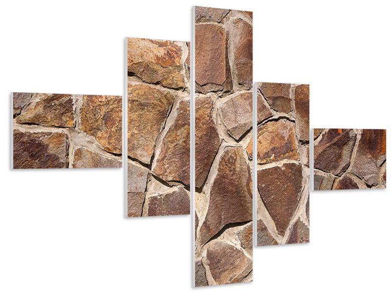 Hartschaumbild 5-teilig modern Designmauer