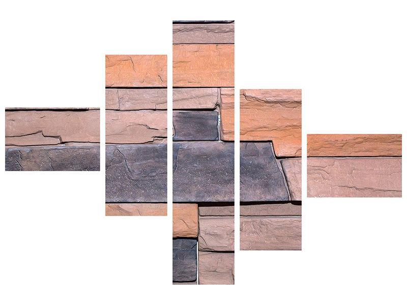 Hartschaumbild 5-teilig modern Wall