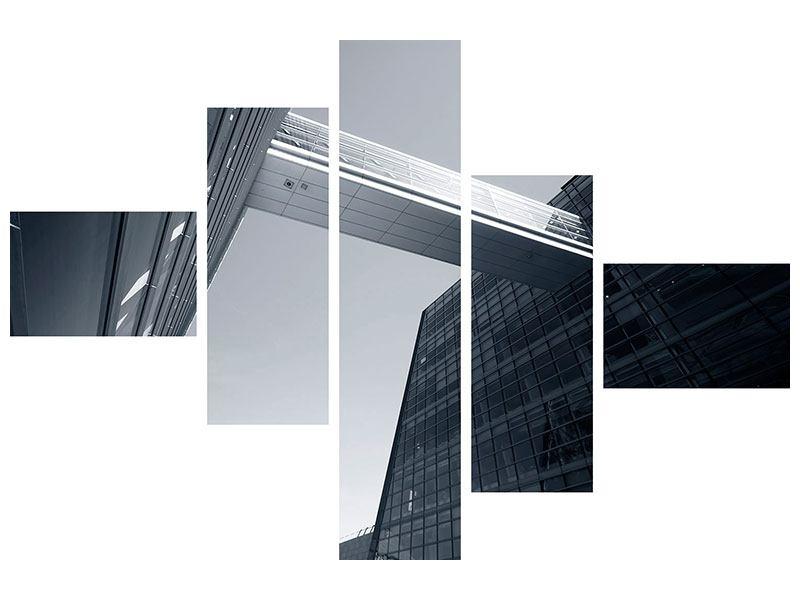 Hartschaumbild 5-teilig modern Der schwarze Diamant Kopenhagens