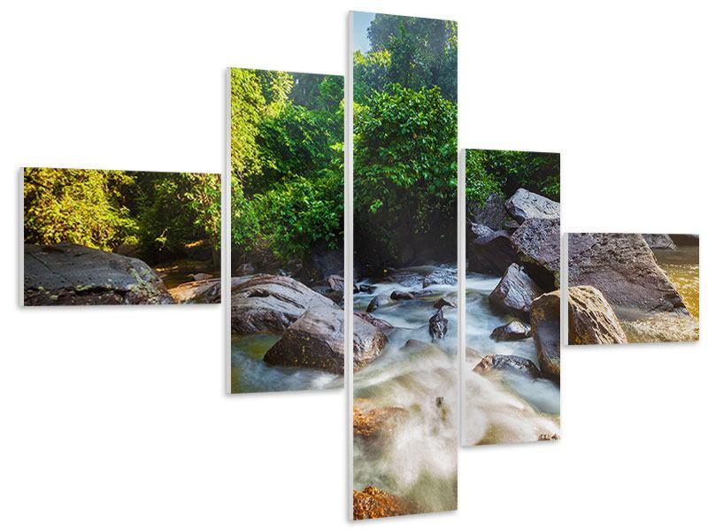 Hartschaumbild 5-teilig modern Das Gewässer
