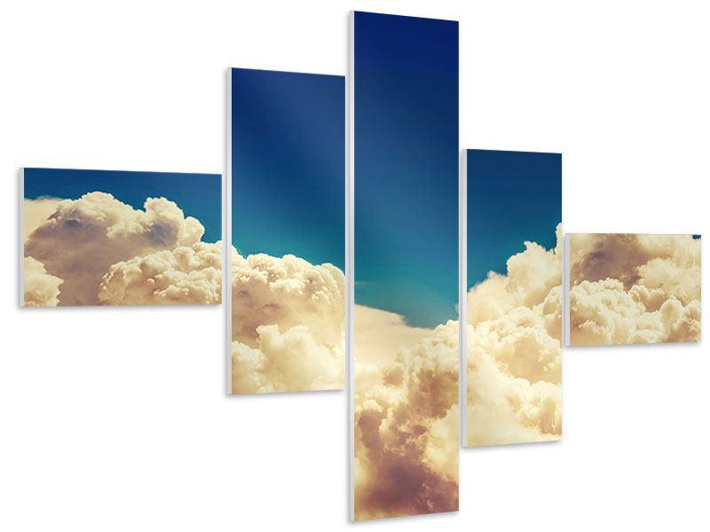 Hartschaumbild 5-teilig modern Himmelswolken