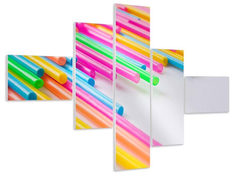Hartschaumbild 5-teilig modern Pop Art