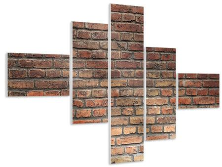 Hartschaumbild 5-teilig modern Brick Wall