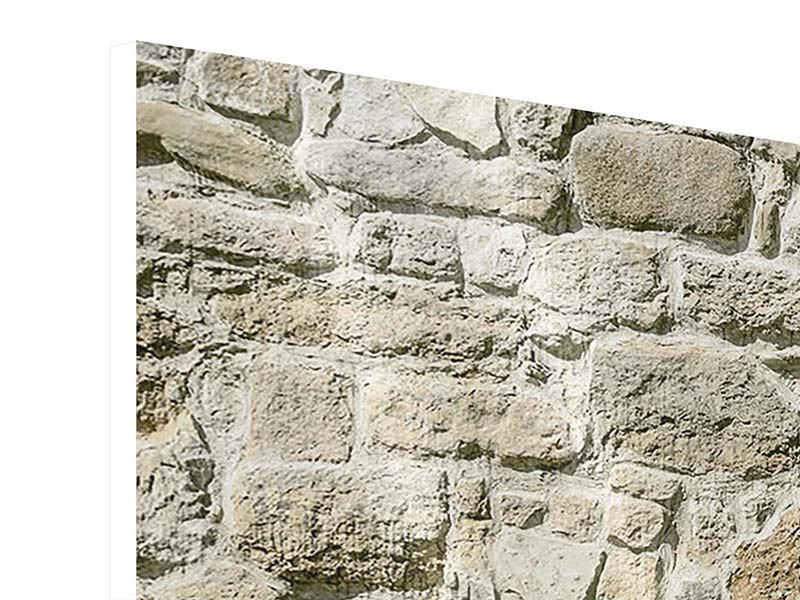 Hartschaumbild 5-teilig modern Naturmauer