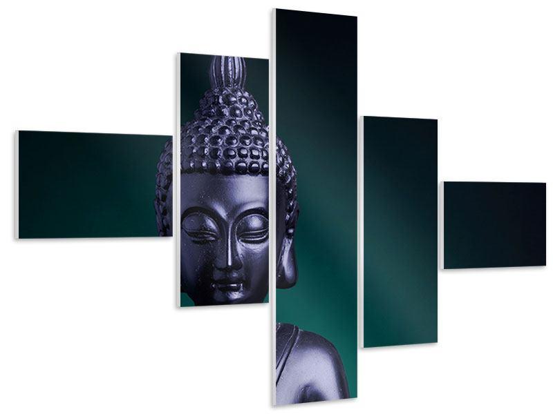 Hartschaumbild 5-teilig modern Die Weisheit des Buddhas