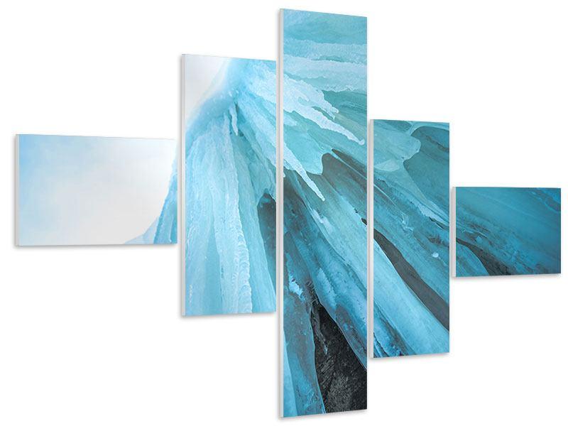 Hartschaumbild 5-teilig modern Die Eiswand