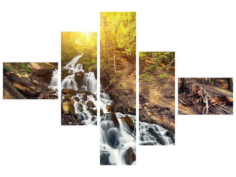 Hartschaumbild 5-teilig modern Naturschönheit