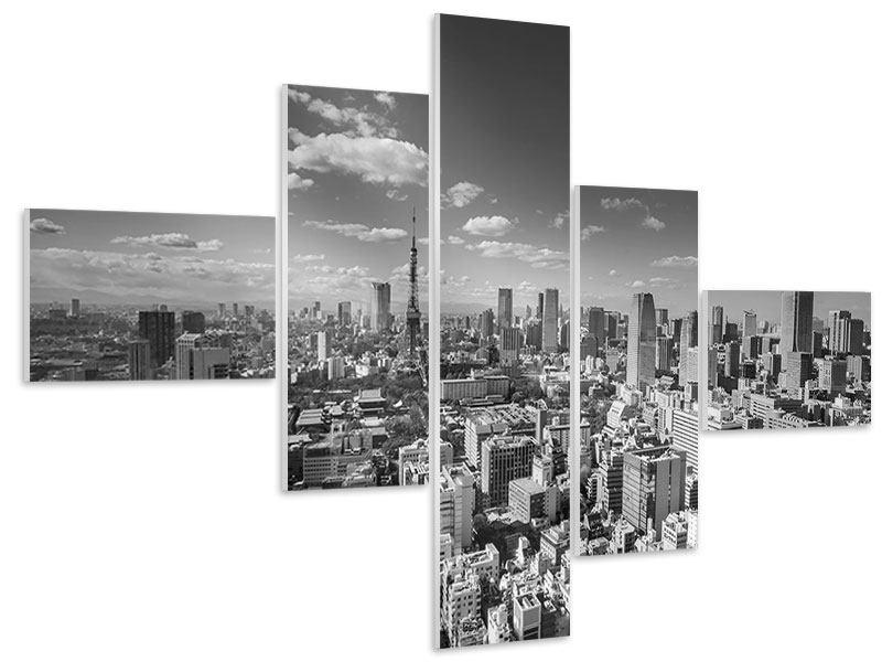 Hartschaumbild 5-teilig modern Tokio