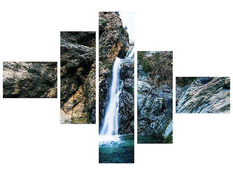 Hartschaumbild 5-teilig modern Bewegtes Wasser