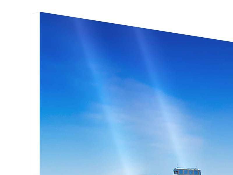 Hartschaumbild 5-teilig modern Skyline Oslo