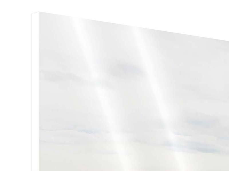 Hartschaumbild 5-teilig modern Leise Wellen