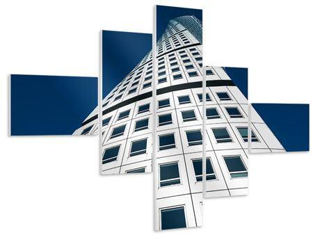Hartschaumbild 5-teilig modern Meisterstück Wolkenkratzer