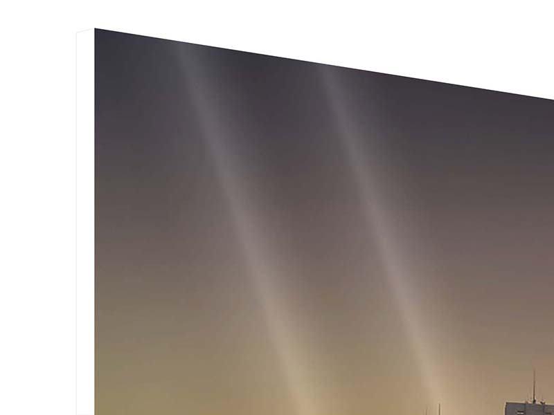 Hartschaumbild 5-teilig modern Skyline Sydney im Lichtermeer