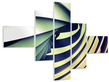 Hartschaumbild 5-teilig modern Abstrakte Perspektiven