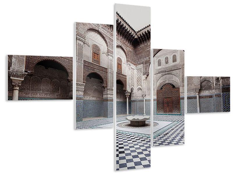 Hartschaumbild 5-teilig modern Orientalischer Hinterhof