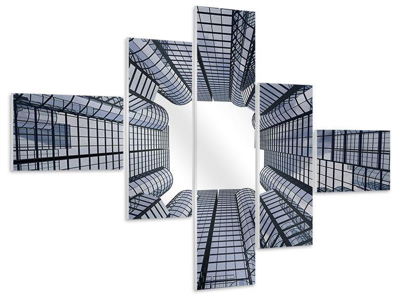 Hartschaumbild 5-teilig modern Besondere Perspektive