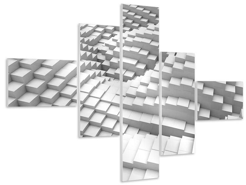 Hartschaumbild 5-teilig modern 3D-Elemente