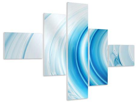 Hartschaumbild 5-teilig modern Abstraktes Glas