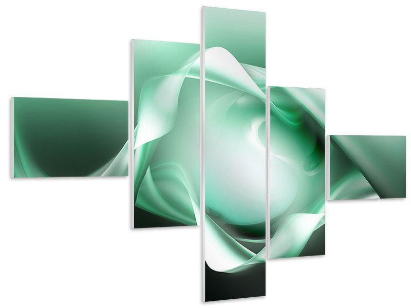 Hartschaumbild 5-teilig modern Abstrakt Tuchfühlung