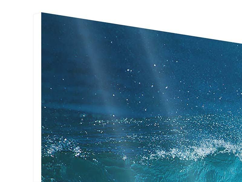 Hartschaumbild 5-teilig modern Die perfekte Welle