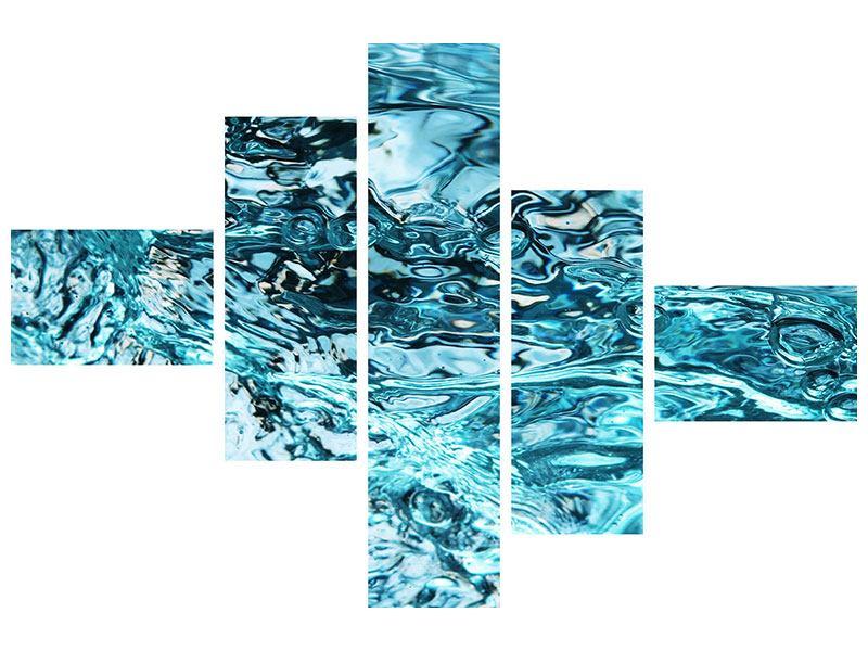 Hartschaumbild 5-teilig modern Schönheit Wasser