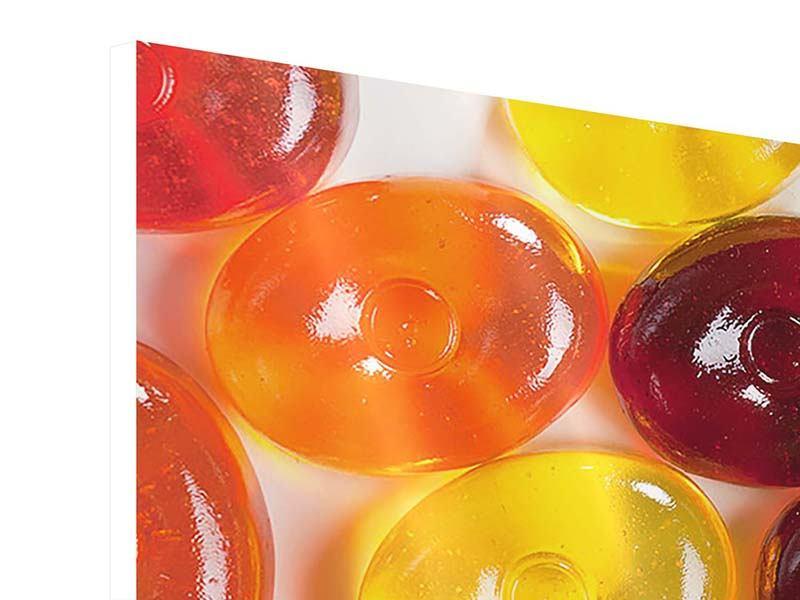 Hartschaumbild 5-teilig modern Bonbons