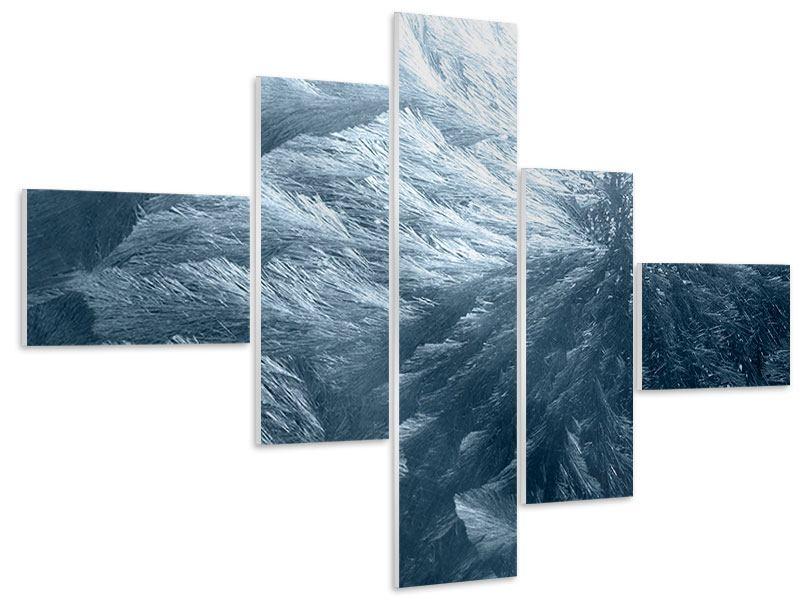 Hartschaumbild 5-teilig modern Eis