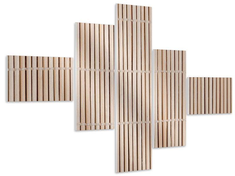 Hartschaumbild 5-teilig modern Lucky Bamboo