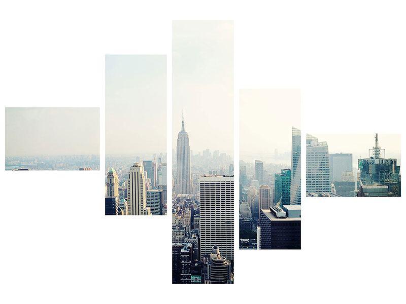 Hartschaumbild 5-teilig modern NYC
