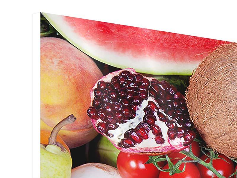 Hartschaumbild 5-teilig modern Frisches Obst