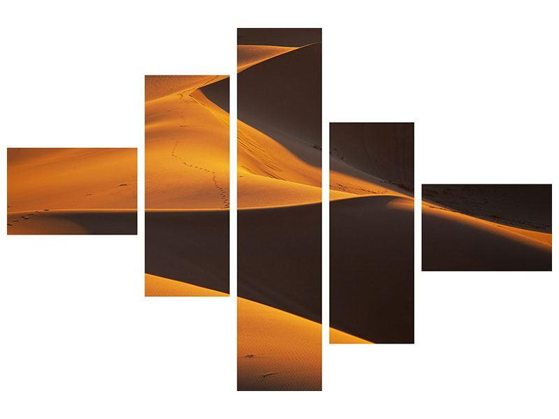 Hartschaumbild 5-teilig modern Wüstensand