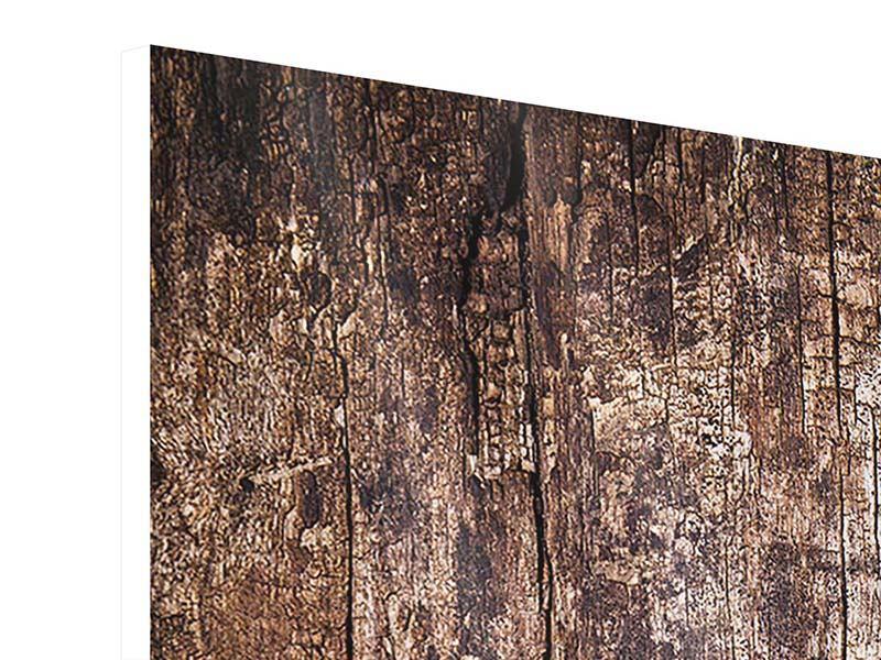 Hartschaumbild 5-teilig modern Retro-Holz