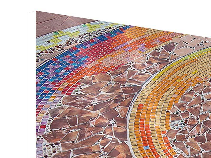 Hartschaumbild 5-teilig modern Mosaik