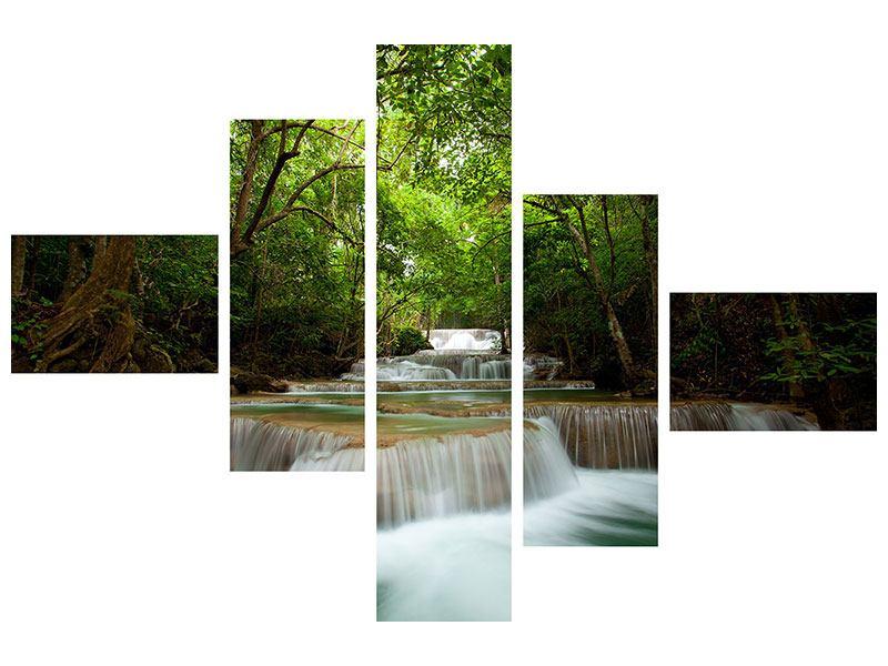 Hartschaumbild 5-teilig modern Die 7 Stufen