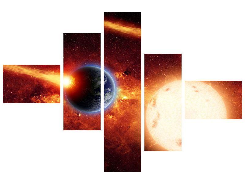Hartschaumbild 5-teilig modern Der Kosmos