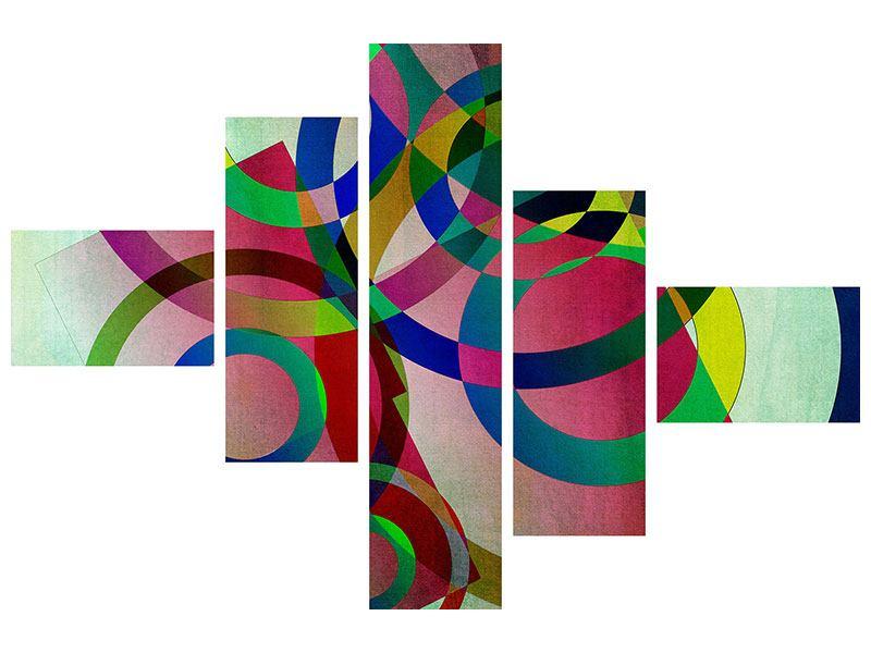 Hartschaumbild 5-teilig modern Wandkunst