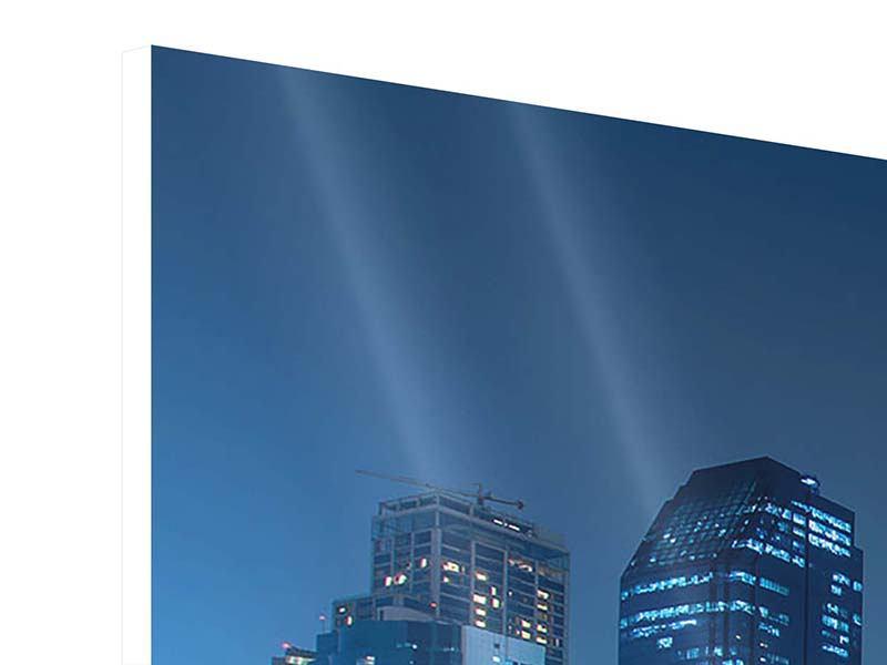 Hartschaumbild 5-teilig modern Skyline Bangkok bei Nacht